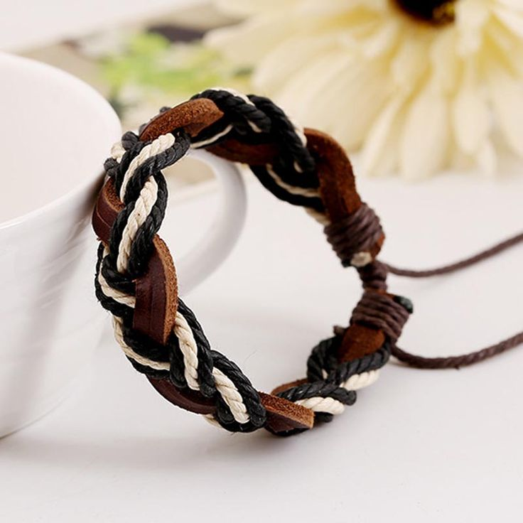 Pure Hand-Woven Leather Bracelet Men And Women Couple Multilayer Stitching Wild Fashion Personality Korean Wave Of Cowhide Strap