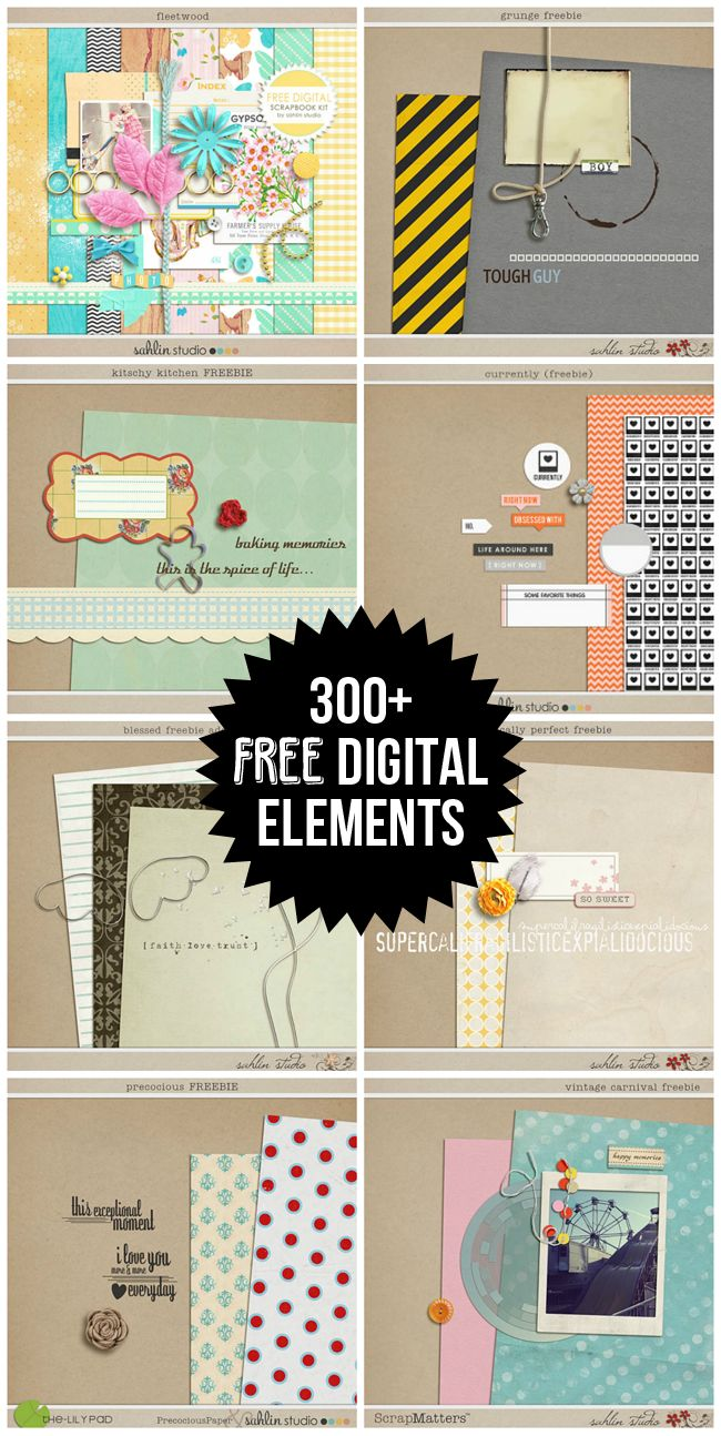 Scrapbook-Hundreds of Free Digital Scrapbooking Paper and Elements - Free Pretty Things For You