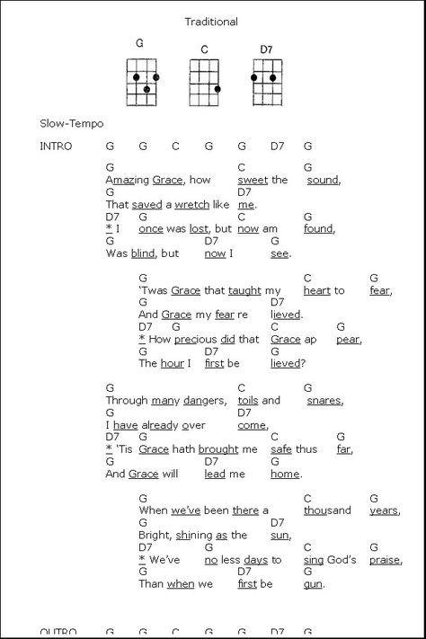 Energian Saasto—These Amazing Grace Chords In C Ukulele