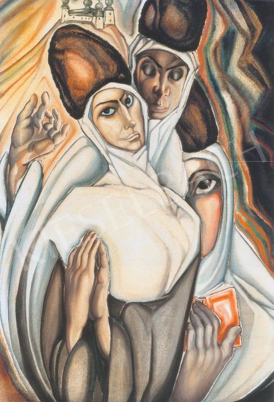 Batthyány Gyula - Szerb szerzetesnők festménye