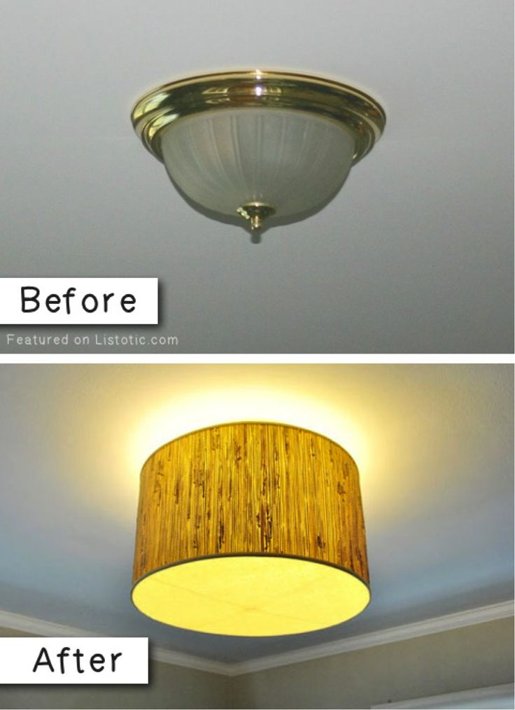 5 Simple DIYs to Transform Your Home On a Budget: Replacing an old light fixture you don't like anymore can be a costly endeavour. Consider instead using the light components from the original fixture and just swapping out the cover. Even something as simple as Rust-Oleum paint to cover the brass will give them a nice makeover. http://www.rustoleum.com/product-catalog/consumer-brands/universal/