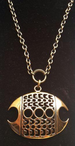 Pentti-Sarpaneva-Finland-Vintage-Modernist-1970s-Bronze-Leaf-Necklace