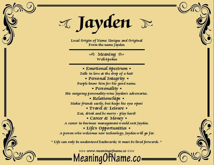 Meaning of Name Jayden