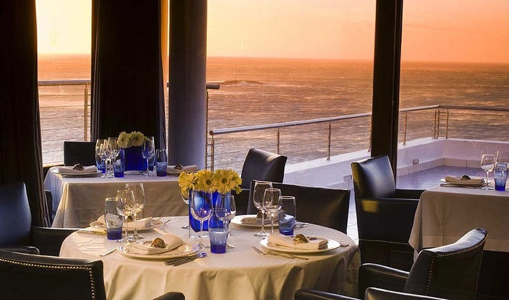 A perfect romantic evening! Azure Restaurant with direct view of the Atlantic Ocean, Western Cape