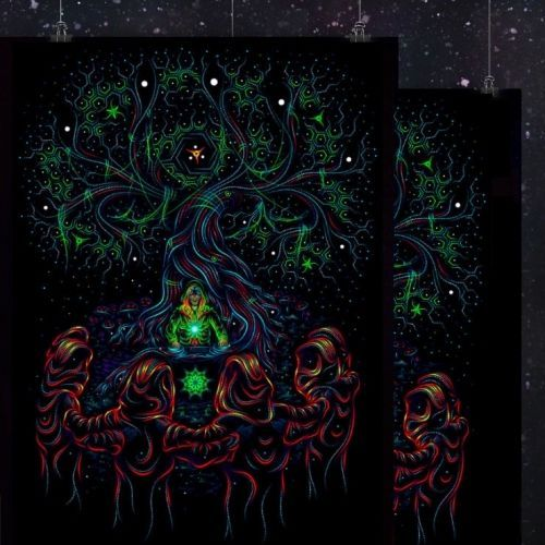 Backdrop Endless Gate Psychedelic Deco Wandbehang 1m x 1,5m Hippie Goa Wandtuch