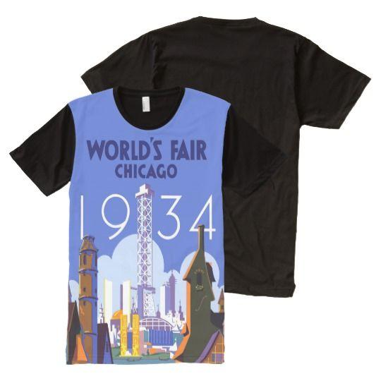 Vintage 1934 Chicago World's Fair Men's T-Shirt