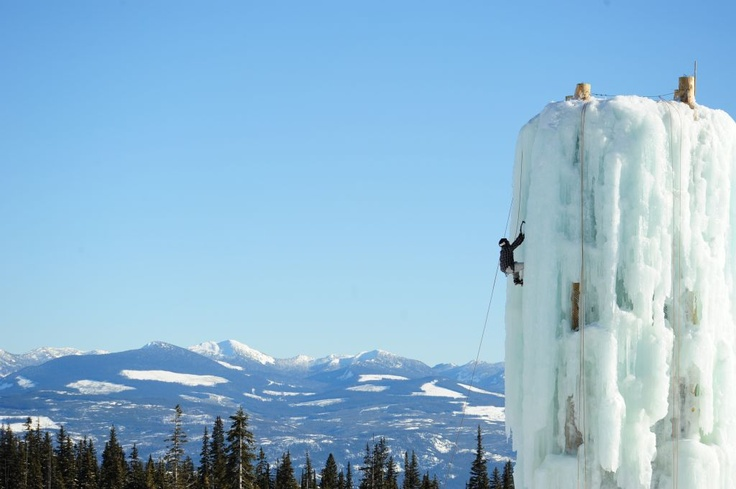 "or we could climb the Ice tower ""Big White Ski Resort"""