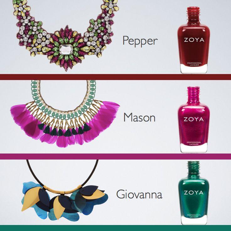 Zoya Pepper, Mason, Giovanna #zoyaoje #tırnak #nail  #fashion #nailcolors #nailart #moda #shoes #bags #dress #zoyaturkiye #jewerly #kadın #style #jacket #skirt #herveleger #küpe #ayakkabı #elbise