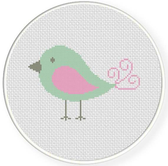 INSTANT DOWNLOAD Stitch Baby Bird PDF Cross Stitch Pattern Needlecraft