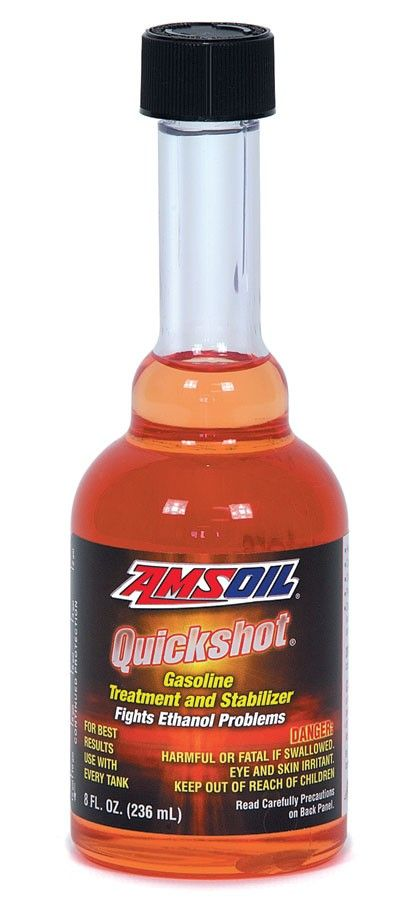 Quickshot (AQS) is recommended for use in all two- and four-stroke gasoline-powered engines, including motorcycles, snowmobiles, boats, personal watercraft, ATVs, edgers, tillers, mowers, snowblowers, chainsaws, generators and farm and construction equipment. However, AMSOIL P.i.® Performance Improver is the superior choice for passenger vehicle applications.