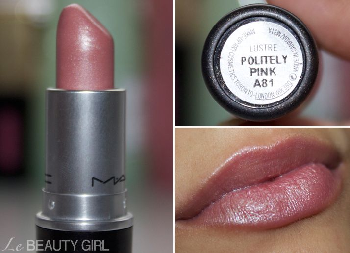 MAC Lipstick collection (Politely Pink) have this color, really pretty!