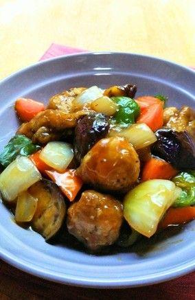 夏野菜の黒酢酢豚☆|レシピブログ