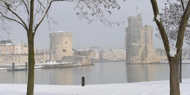 La Rochelle sous la neige. Vue depuis la Médiathèque Michel Crépeau.C.B.