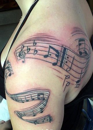 half sleeve ideas (specific music notes though...Gabriel's Oboe as a testament to little brother)