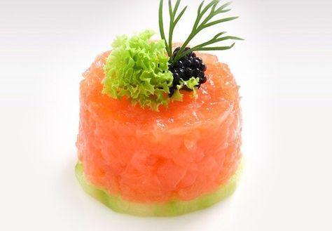 «Божественный» деликатес: тартар из лосося — Вкусные рецепты