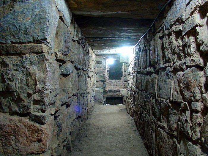 The underground tunnels of Chavin de Huàntar.