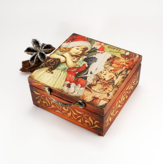Waiting for Christmas Wooden Box for teaspices or by Alenahandmade, $40.00