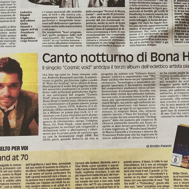 Mondo Padano (Italian Mag) - Interview by Filippo Gilardi (Feb 2016)