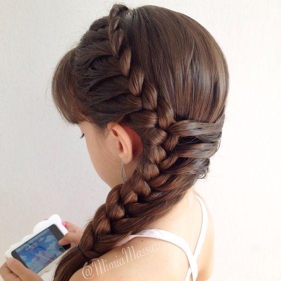 Lace braid by @mimiamassari: