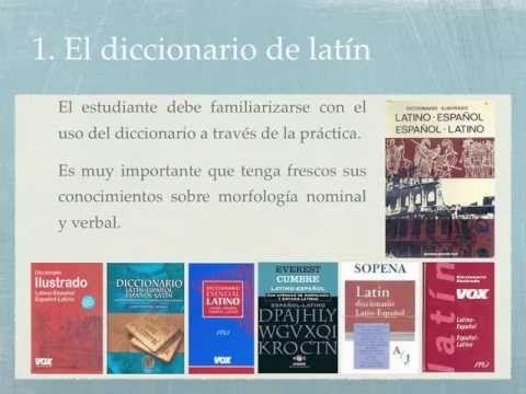 ▶ Consejos para el uso del diccionario de latín - YouTube