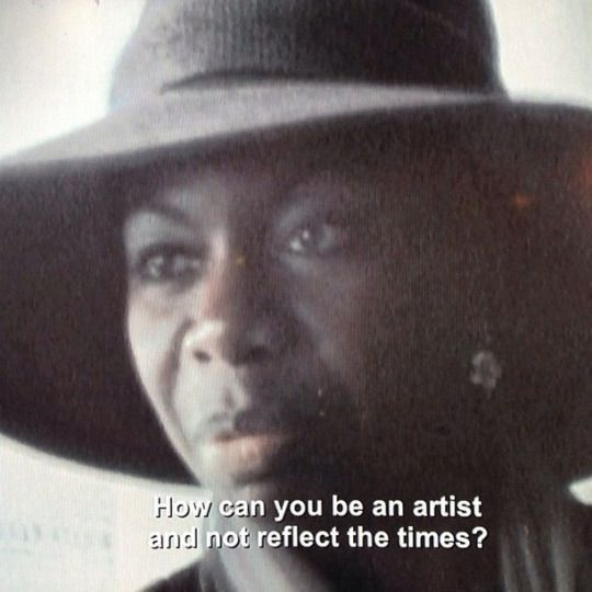 How Can You Be an Artist and not reflect the times? - Nina Simone