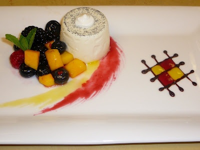 Plated Desserts - Bavarian Raspberry Mousse and Panna Cotta with Chocolate Ganache & 13 best Fine dining plated desserts images on Pinterest | Plated ...