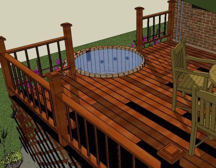 hot tub 1/2 deck