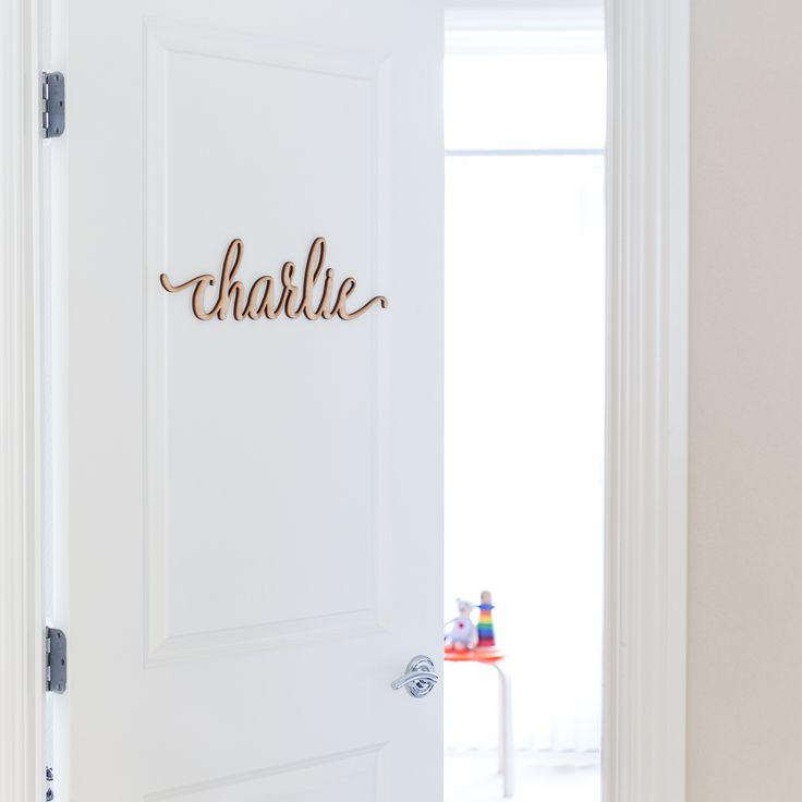 Add Some Wood to Your Walls  Girl NurseriesBoy RoomDoor SignsBedroom Decor Baby. 60 best Nursery Letters images on Pinterest   Nursery letters