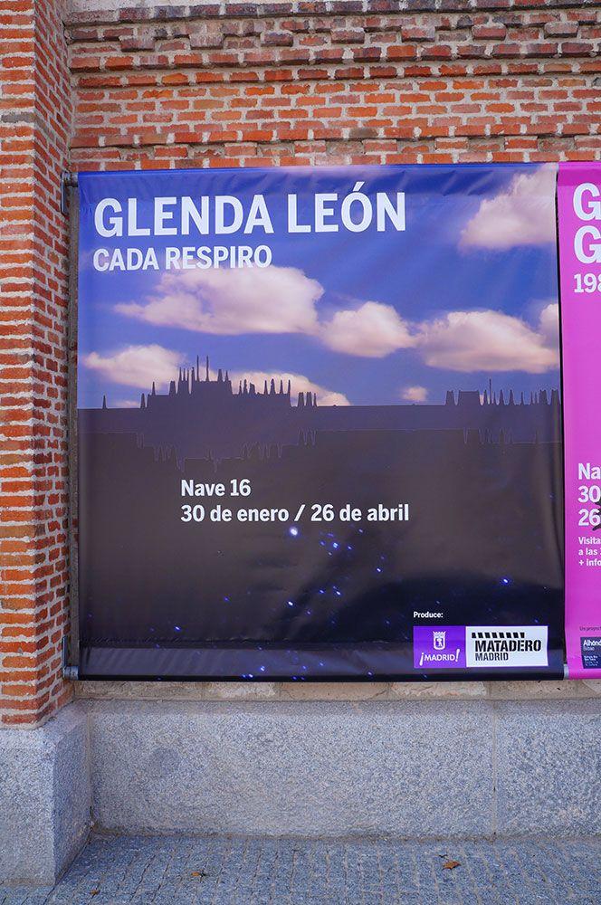 """Cartel de """"Cada Respiro"""", la Videoinstalación de Glenda León en el Matadero Madrid. #Cartel #Affiche #Arterecord 2015."""