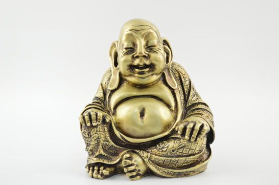Buddha statue / Bronze plated polyester by CraftsAndMetal on Etsy