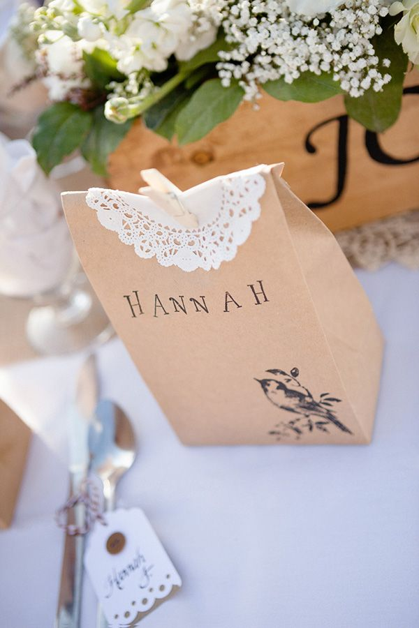 Favour bags - customised bown paper, like a grownup partybag!