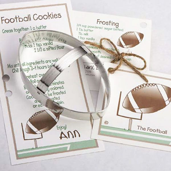 Football Cookie Cutter from The Sugar Diva