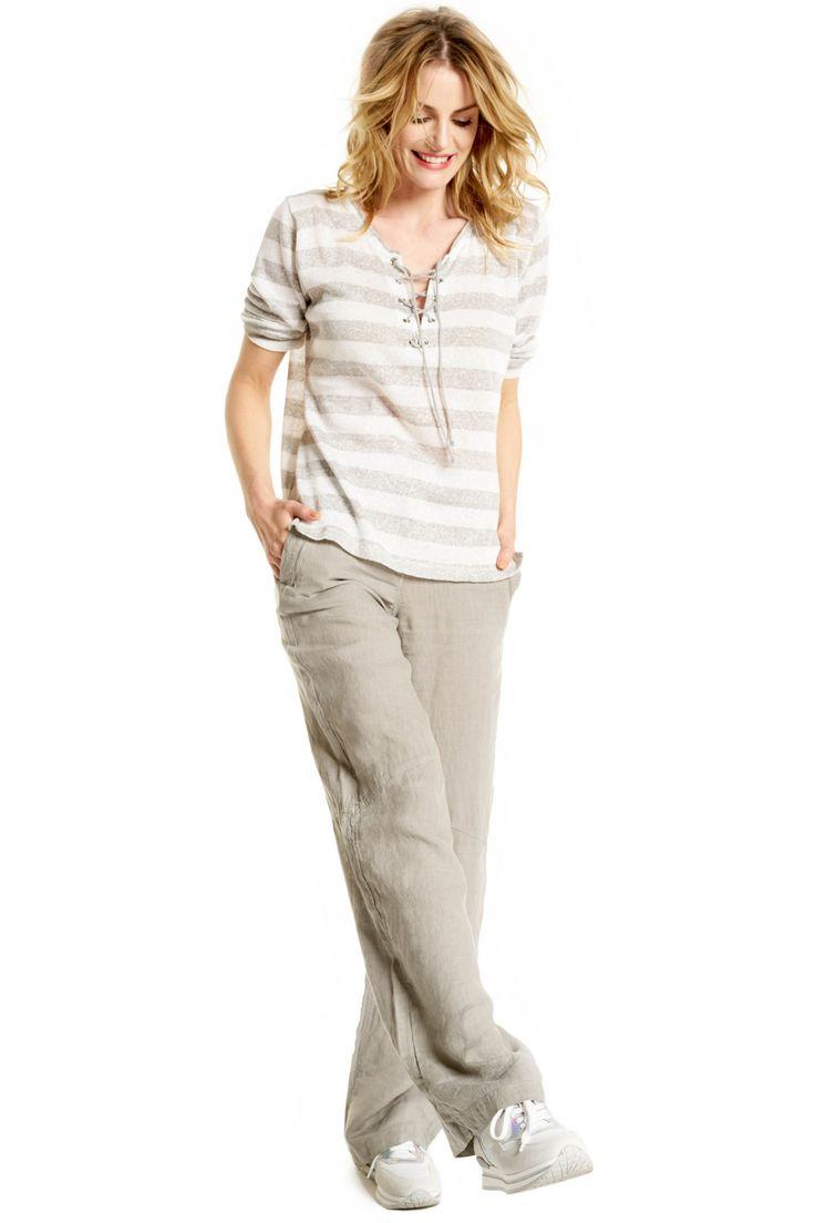 Anna - linnen broek met wijduitlopende pijpen #bootcut #flaredjeans #flared #SS16 #trend