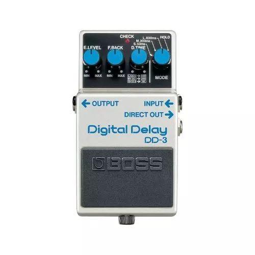 Pedal Para Guitarra Boss Dd-3 Branco Efeito Digital Delay  Pedal de Delay