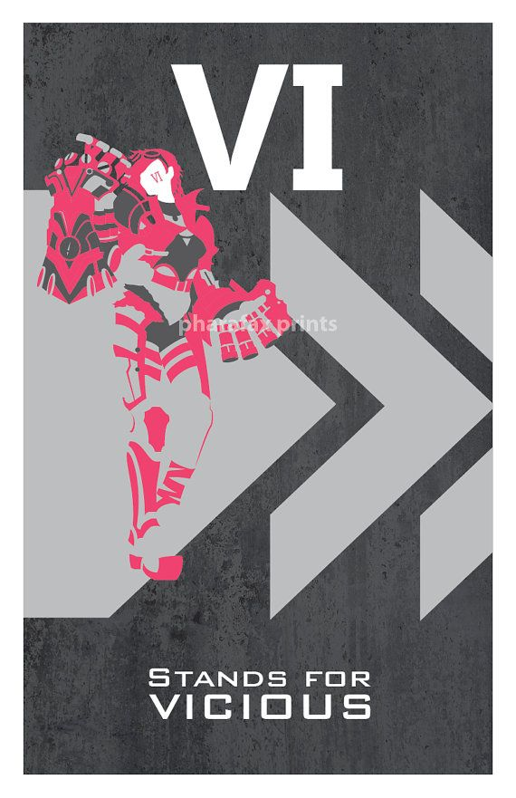 Vi League of Legends Print by pharafax on Etsy, $16.00  - Join the best social network for gamers now! http://Player.me