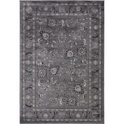 benuta Teppich Velvet Anthrazit 300x400 cm - Vintage Teppich im Used-Look benuta