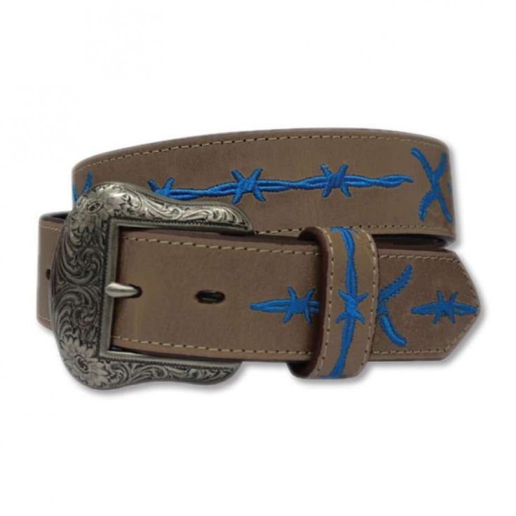 TWISTED X MENS BLUE WIRE BELT  The perfect belt for every rodeoing cowboy! $79.95