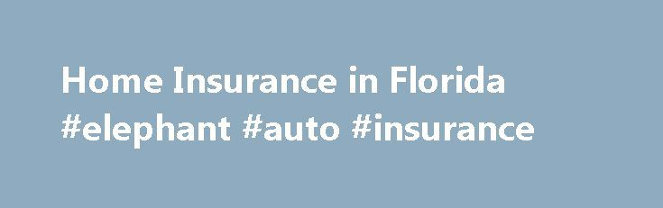 Home Insurance in Florida #elephant #auto #insurance http://insurance.nef2.com/home-insurance-in-florida-elephant-auto-insurance/  #florida homeowners insurance # Tips + Tools Your home is most likely the largest financial asset you will ever own and it houses some of your most precious belongings. In the event of a loss due to fire, storms or... Read more