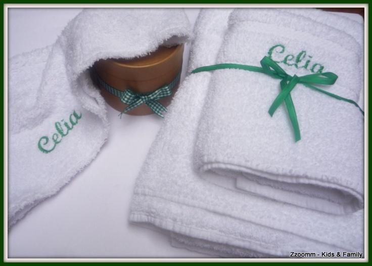 Set De Baño Para Souvenir:Set de toalla, toallón y turbante de baño (adultos)
