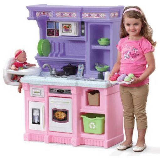 Kitchen Playset For Girls Pretend Play Refrigerator Toy Cooking Set Toddler Kids Step2