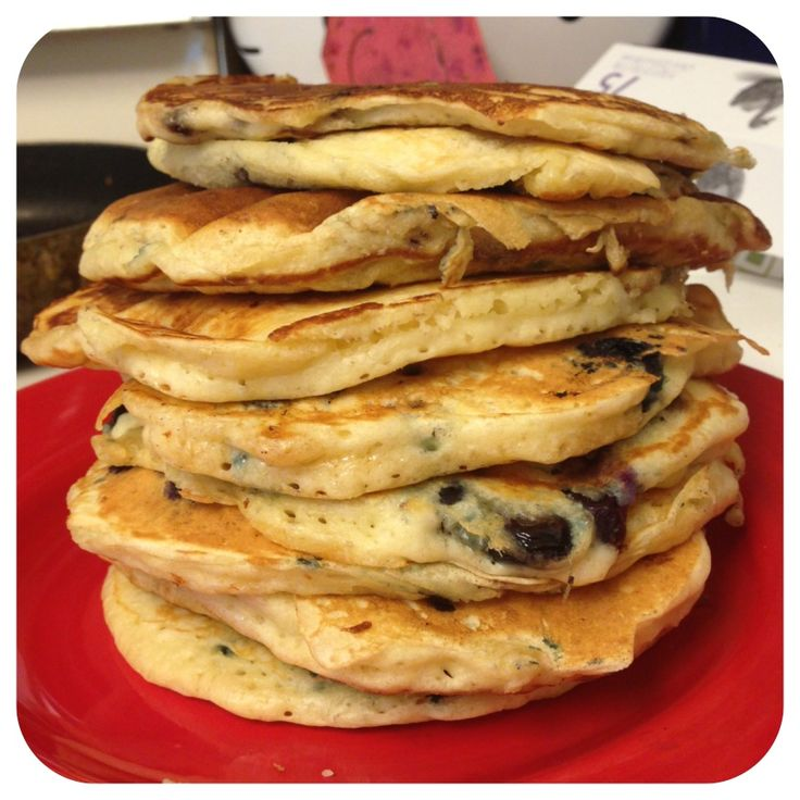 Blueberry Buttermilk Pancake recipe from scratch-- Easy, and way better than a box!