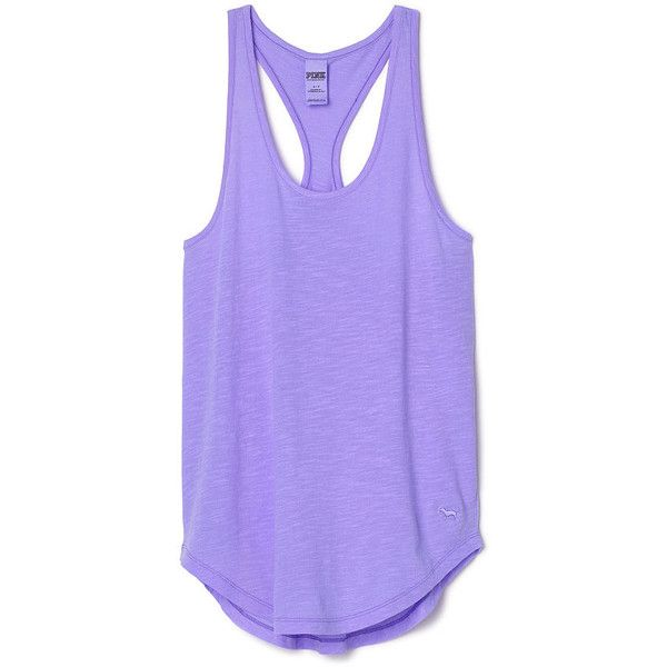 PINK Racerback Tank ($20) ❤ liked on Polyvore