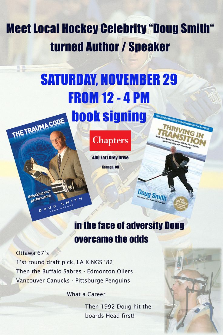 Meet Doug Smith at Chapters in Kanata on November 29th from Noon - 4pm.