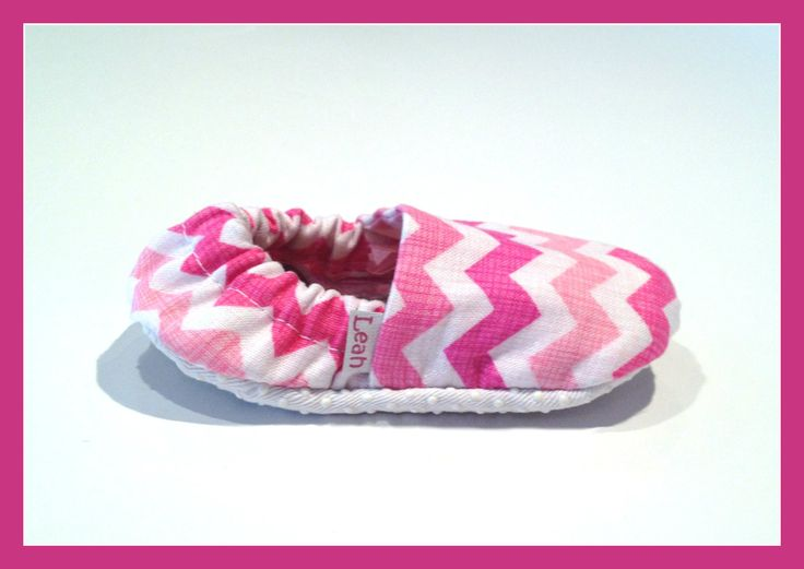 Pink Chevron Booties  www.bellababybooties.weebly.com