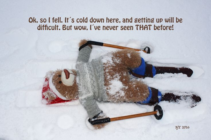 Tor the Bear, Norway, snow, skis, inspirational quote, teddybear, toys