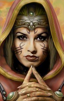Human female warrior from Neverwinter