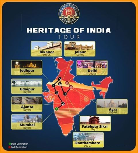 "Explore Amber Fort through the ""Heritage of India"" of Maharajas Express train. Jaipur is located in the Indian State of Rajasthan which is also known as the ""Pink City""."
