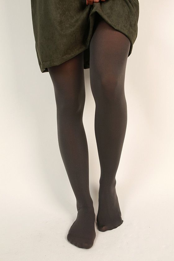 Essential Opaque Tights in Charcoal