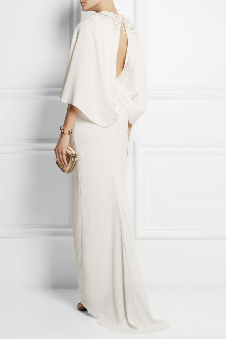 Biyan|Istia embellished crepe gown|NET-A-PORTER.COM