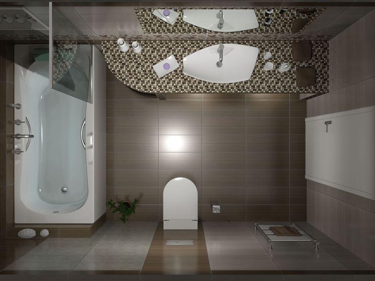 Το μπάνιο έχει διάσταση 3,10 x 1.80 m και στην πλευρά απέναντι από την είσοδο τοποθετήθηκε μπανιέρα Υδρομασάζ με μήκος 1.70 m. Για την καλύτερη εξυπηρέτηση του χώρου με το μοτέρ η μπανιέρα συνοδεύτηκε με την ποδιά της.